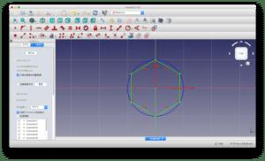 FreeCADで3D CADデータの作成 〜円、線、六角形〜