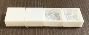 Ultimaker Curaの実験機能を使ってみる その2:スパゲッティインフィル