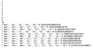 Python機械学習ライブラリScikit-learn その30:糖尿病患者のデータセットを使って、Ridgeモデルで特...